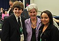 HHS Secretary Sebelius poses with participants at the White House Bullying Conference before giving remarks on Thursday March 10.jpg