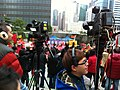 HK Admiralty Voice of Loving Hong Kong video camera at work Jan-2013.JPG