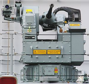 HMNZS Otago (P148) - 25mm Bushmaster cannon and remote turret.