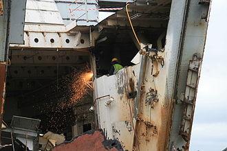 HMS Stalker (L3515) - HMS Stalker being broken up