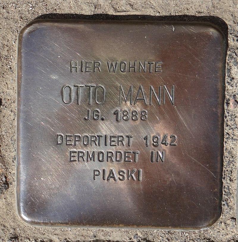 Hahnheim Stolperstein Untere Hauptstraße 8 Otto Mann.jpg