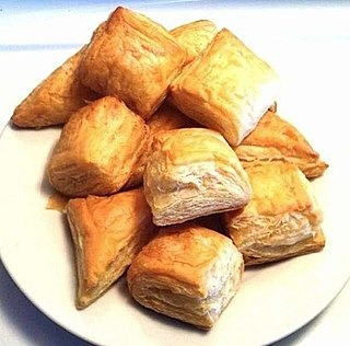 Haitian patty baked puff pastry