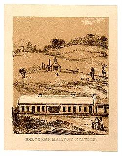 Halcombe railway station
