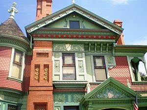 Hale House - Close-up of front facade at Hale House