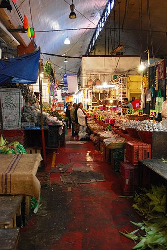 Popular fixed markets in Mexico - One of the aisles in the La Merced Market in Mexico City