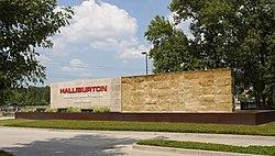 Halliburton North Belt Sign 04 - West Side (Red Sign Removed).jpg