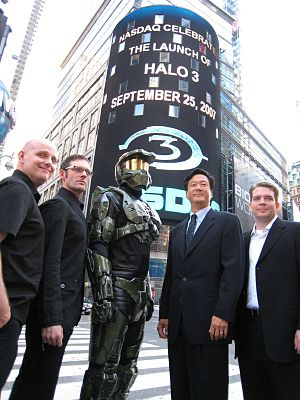 Halo 3 - A Halo 3 launch event was held at the NASDAQ building in New York City on September 25, 2007.