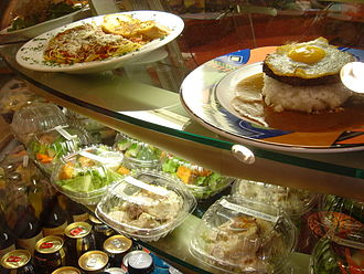 Loco moco - Hamburger loco moco at Aqua Cafe, Honolulu
