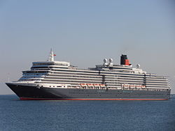 Hamilton Bermuda' Queen Elizabeth arriving Port of Tallinn 10 June 2012.JPG