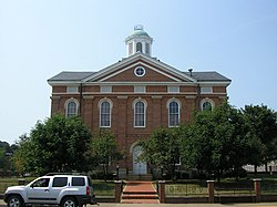Old Hancock County courthouse in Hawesville, Kentucky