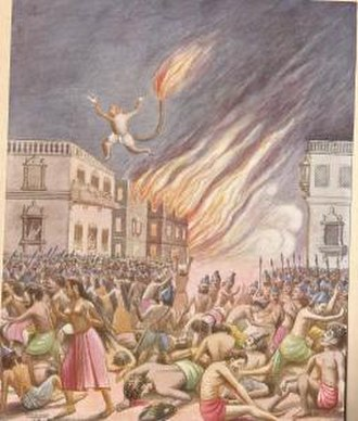 Lanka - Hanuman set all Lanka on fire