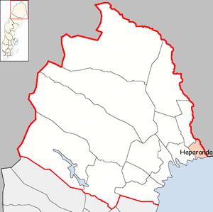 Haparanda Municipality - Image: Haparanda Municipality in Norrbotten County