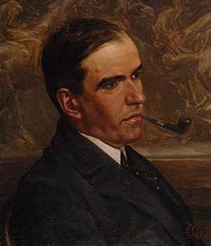 Harold Parker - My friend Harold Parker by James Quinn, c. 1907. Oil on canvas on board, 35.5 x 31 cm., in the collection of the National Library of Australia