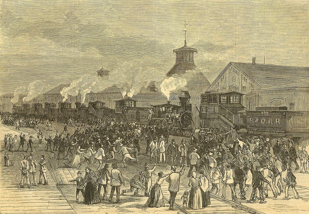 great railroad strike of