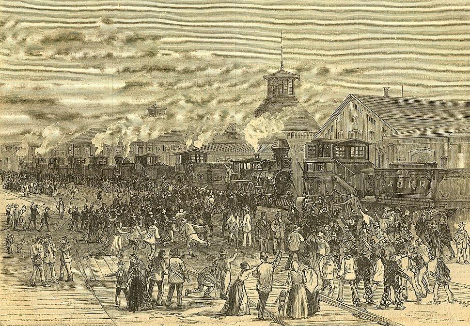 Harpers 8 11 1877 Blockade of Engines at Martinsburg W VA.jpg