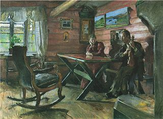 The Living Room at Kolbotn, (Hulda and Arne Garborg's home)