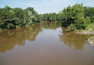 Hatchie River - The Hatchie River at Rialto, Tennessee, on the boundary of Tipton and Lauderdale Counties.