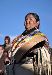 Havasupai woman, Mather Point Amphitheater dedication ceremony, October 2010