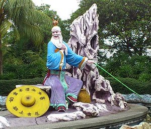 Jiang Ziya - Statue of Jiang Ziya at Haw Par Villa, Singapore.