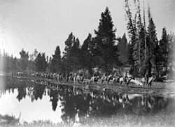 The Hayden expedition in Wyoming as photographed by William Henry Jackson