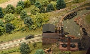 Head of the Hay Inclined Plane, diorama, Museum of the Gorge, Ironbridge.jpg