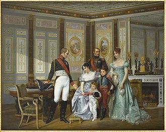 Napoléon Louis Bonaparte - Image: Hector Viger L'impératrice Joséphine reçoit à la Malmaison la visite du Tsar Alexandre Ier