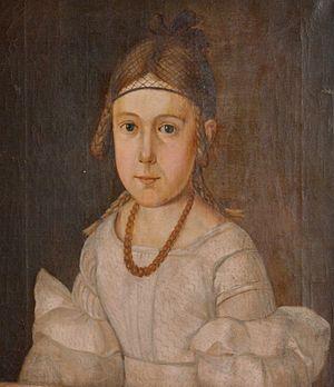 Hedvig Ibsen - Hedvig, painted by Grandjean in 1840, eight years old