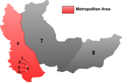 "Location of Gongnong (""3"") within Hegang City"