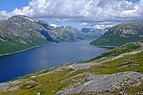 Heggmovatnet seen from Blombakkfjellet.jpg