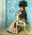 Heinrich Hellhoff - An Alluring Pose, 1908.jpg