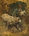 Heinrich von Zügel - Schäferjunge mit Lämmchen und Schaf.jpg