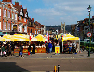English: Henley-on-Thames, french farmers' market.