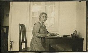 Henrietta Szold - At her home in Jerusalem, ca. 1922