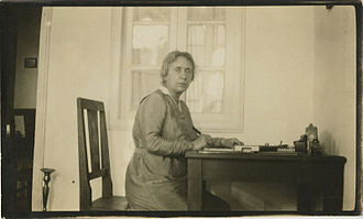 Henrietta Szold - At her home in Jerusalem, ca. 1922
