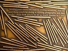 Citation commémorative de Thoreau à la Library Way de New York.