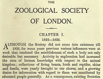 Henry Scherren - The magisterial start of Scherren's 1905 book on the Zoological Society of London