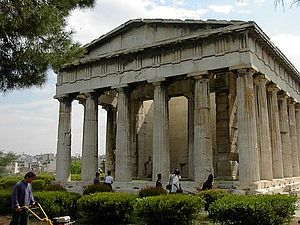 Temple of Hephaestus, a Doric Greek temple in ...