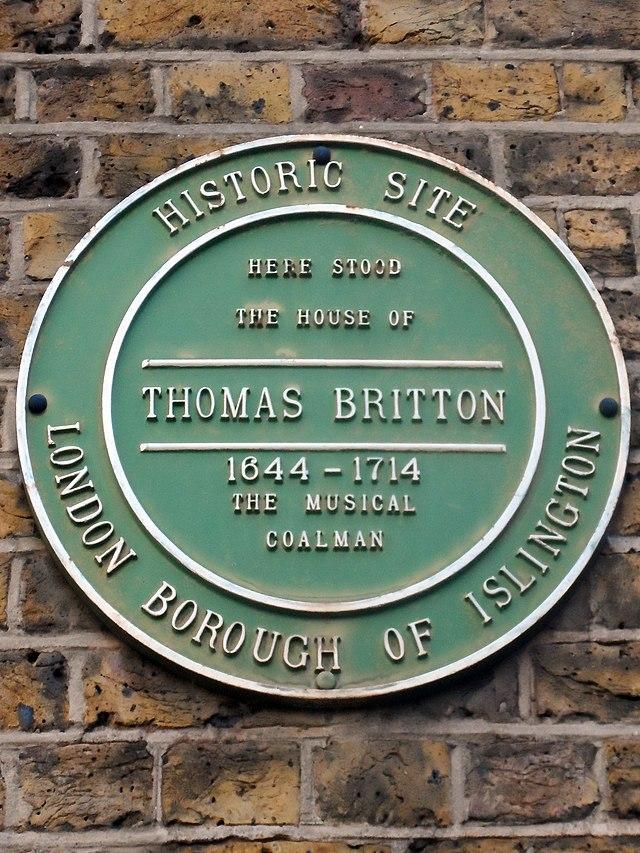 Photo of Thomas Britton green plaque
