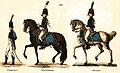 Herzoglich Gothaische Gendarmerie 1811 Uniform nach Vorbild der Gendarmerie impériale blauer Rock gelblederne Hosen schwarzer Zweispitz.jpg