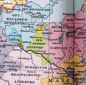 Holstein-Pinneberg - Holstein-Pinneberg and neighbouring territories around 1400