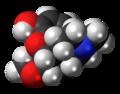 Heterocodeine molecule spacefill.png