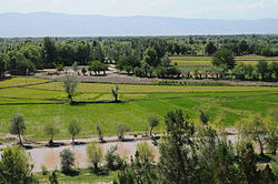View from atop a hill in Khawajah Bahawuddin, Takhar Province, افغانستان.