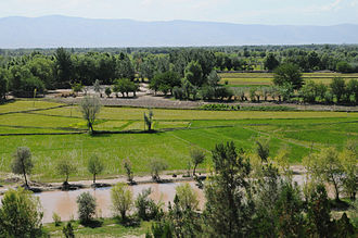 Takhar Province - View from atop a hill in Khawajah Bahawuddin, Takhar Province, Afghanistan.