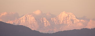 Yamuna - Banderpoonch peak, the source of Yamuna, as seen from Mussoorie