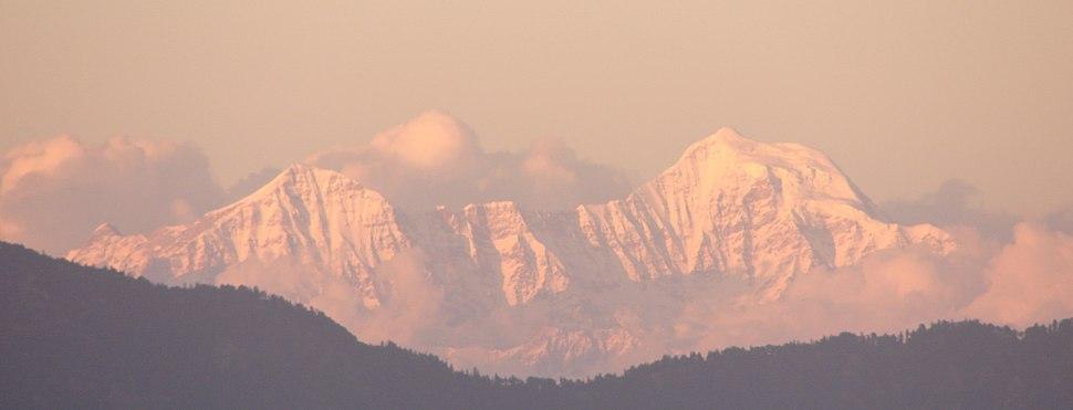 Himalayas at dusk from Mussoorie, Uttarakhand