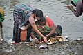 Hindu Devotees Preparing Surya Puja - Makar Sankranti Observance - Kolkata 2018-01-14 6589.JPG