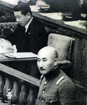 Hisaichi Terauchi - Count Terauchi and Koki Hirota at the Diet of Japan