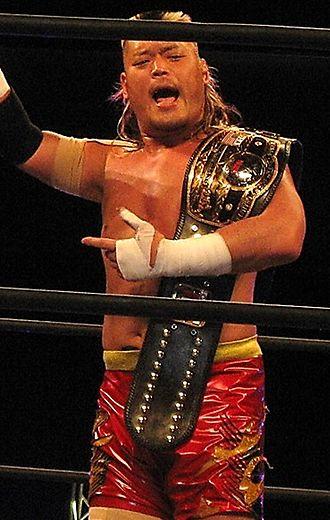 Hiroyoshi Tenzan - Tenzan as the NWA World Champion in March 2015.