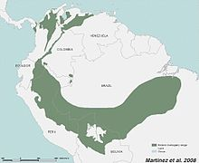 Historic range of big-leaf mahogany in South America