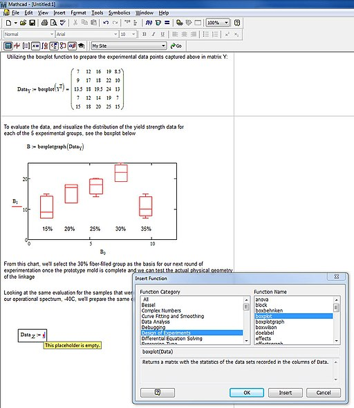 Historical Mathcad 15.0 screenshot